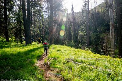 #37 - May, Annie hiking into Bean Creek Basin.