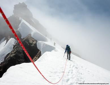 #14 - August, nearing summit of Sahale Peak.
