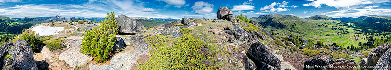 I scrambled to the summit of Rock Mtn.  Here is a 360 deg pano
