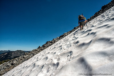 Ascending to Meany Crest and basecamp