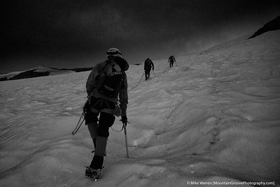 Ascending the Mazama Glacier