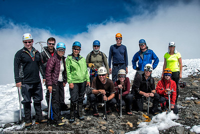 Our climbing group, all summiting the second highest peak in Washington, at 12,276'