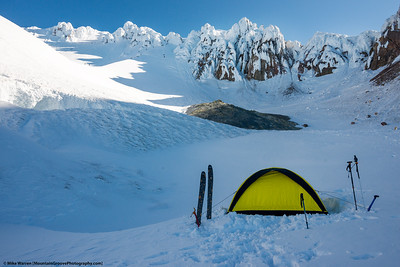 Perfect campsite!  Upper  basin. Note the  bazillion climbers that you encounter with a late start!