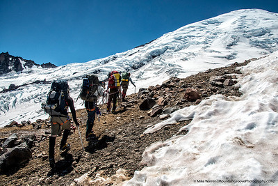 Passing through Camp Curtis to the Emmons Gl, and Camp Schurman
