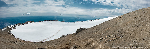 5 shot panorama of the summit crater.