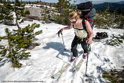 Katrina, training for Denali.