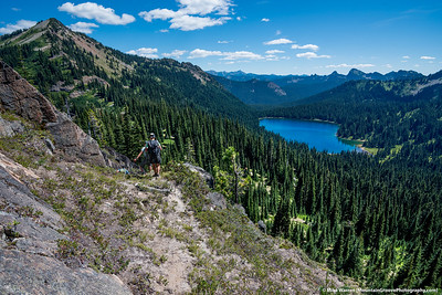 Dewey Lake on the right, Tahtlum above us.