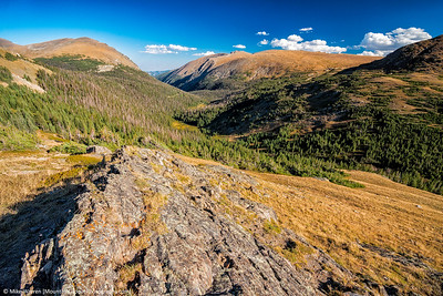 Looking down from near the continental divide.