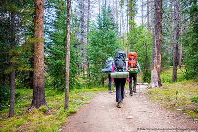 Starting at the Colorado River TH, our backpack was mostly in the trees, and lacked the spectacular nature of above tree line travel.