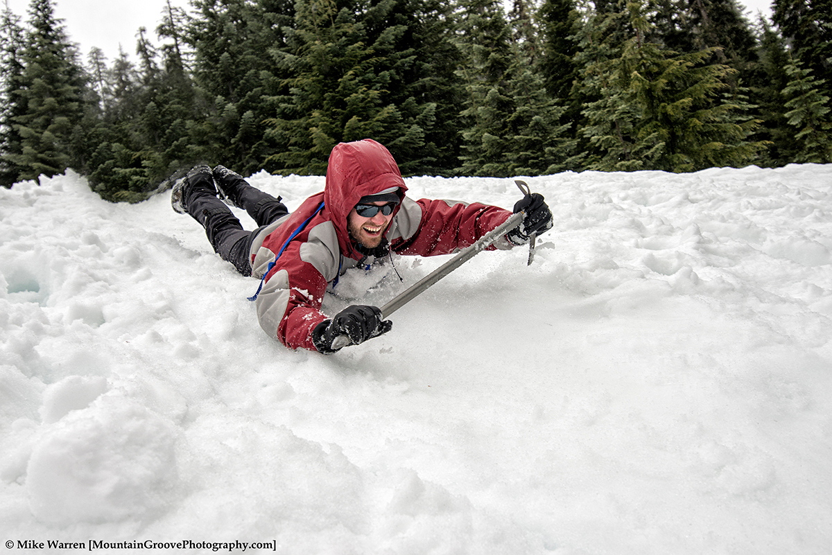 Who would not love throwing themselves down a snow slope in the rain!