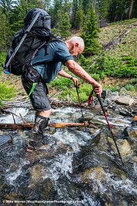 Walter nailing the stream crossing