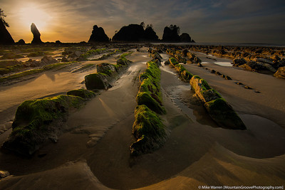Point of the Arches at sunset and low tide