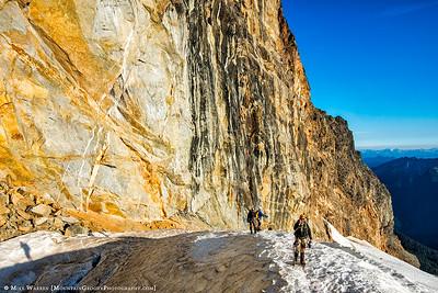 Below the north wall of Sloan Peak