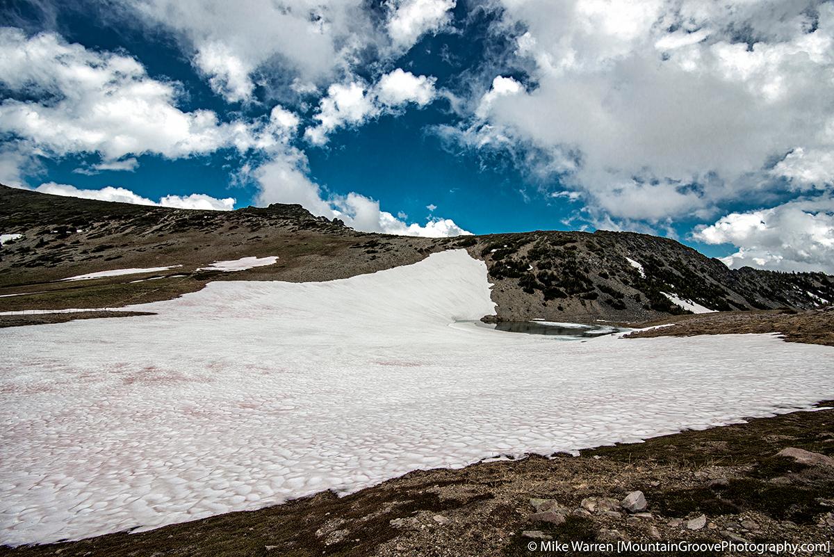 A partially frozen Frozen Lake