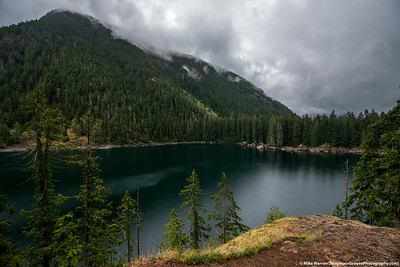 Lena Lake, right before the sky opened up!