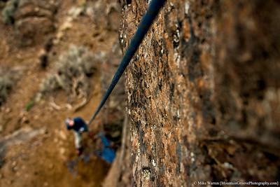 Climber's eye view