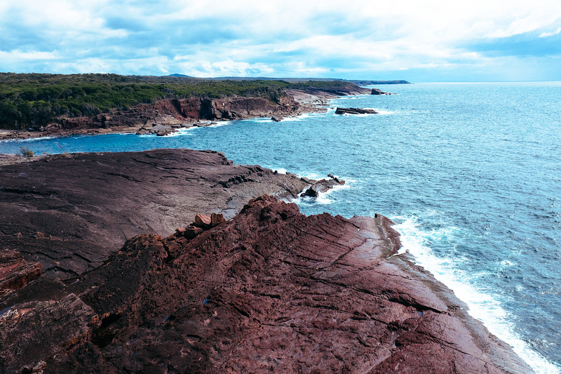 Looking North from Pulpit Rock at Green Cape, South Coast NSW