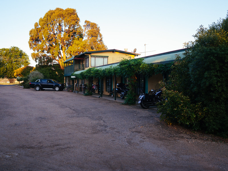Omeo Motel. At home with the (mostly) BMW's and a few Harley's.