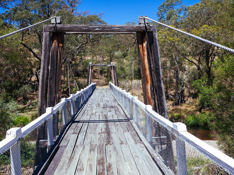 Restored Suspension Bridge over the Deddick River, Tubut, Victoria.