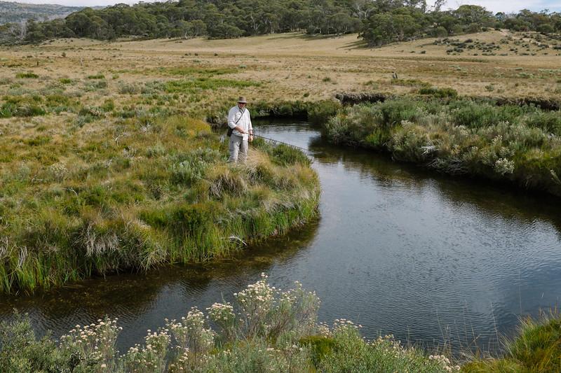 Gungarlin River, Tenkara Action (Photo by Tom Roderick)