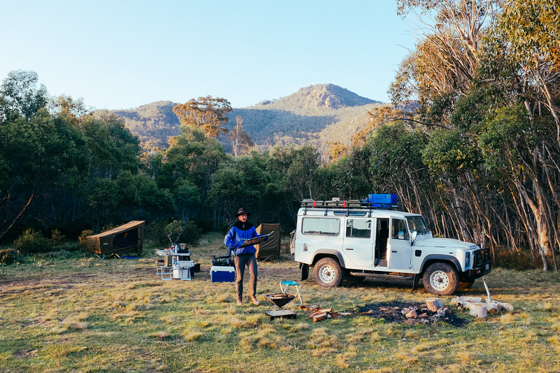 Camp in the high country after passing the Cobberas Track. We did that track with a couple (+ 2 very youing kids) in a 100 series Landcruiser with a trailer!!