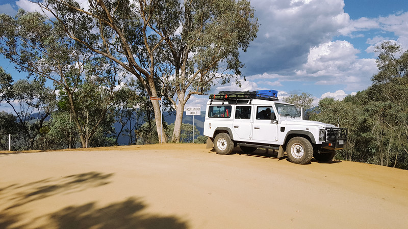 Barry Way, Snowy River Country, turn-off to Ingeegoodbee Track. This is known as the steepest 4x4 track in Australia.