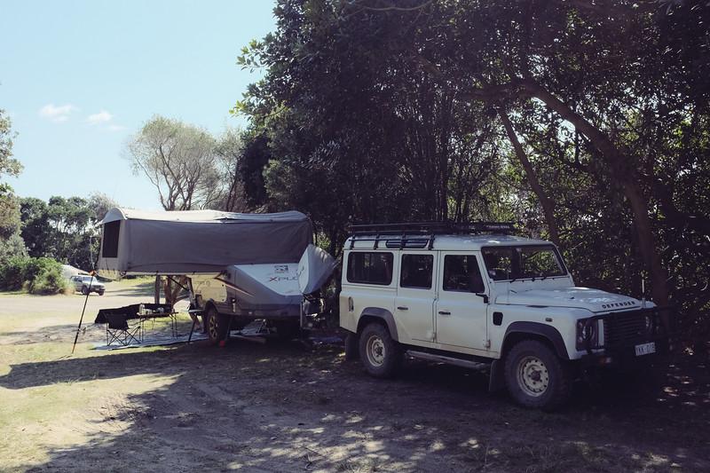 Racecourse campground & Goolawah beach, near Crescent Head, NSW