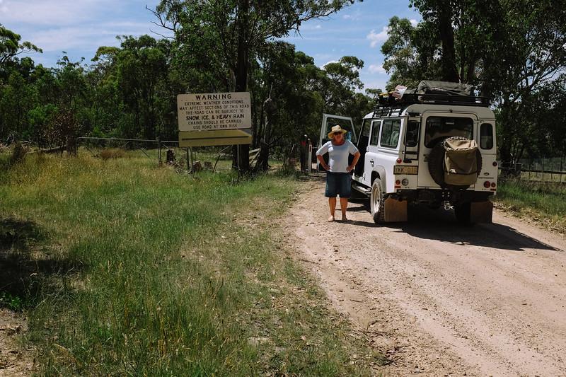 And so it begins ..... Limestone Rd, near Wulgulmerang, NSW