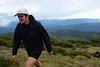 Making tracks. Cold at the summit of Mt Pinnibar (~1800 m elevation).