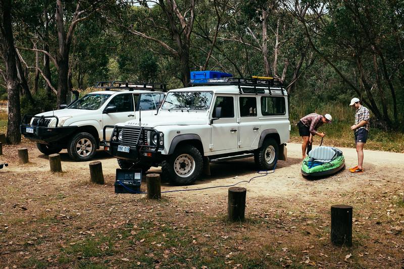 Preparing the Interceptor, Tom Groggin Campground