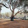 Big Tom's Beach on the Murray River at COBRAM. Yes - these free riverside camps were very popular.