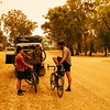 Caught up with Curtis and Tom on the gravel tracks from Cobram to Echuca.
