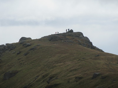 Nearing the summit ridge.