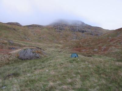 Wild camping in Lag Uaine.