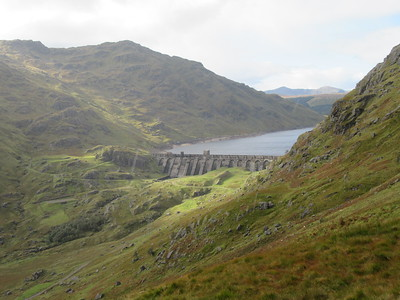 The impressive Loch Sloy dam.