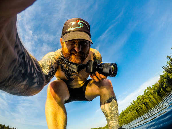 Oh wait this GoPro is still on?! hahaha Yeah I rock my camera around my neck in my skibbies taking photos while paddling around