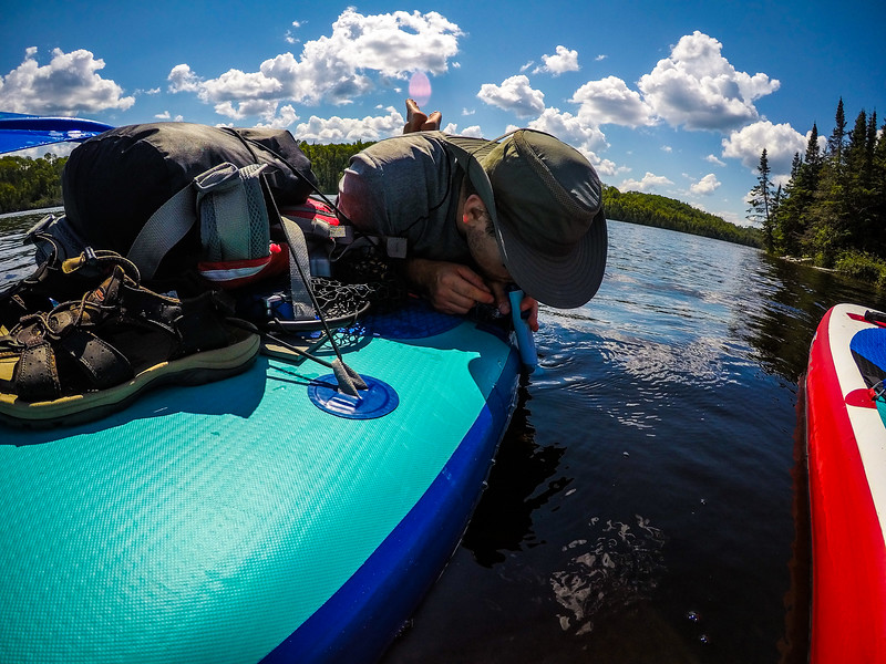We decided to drink out of every single lake we paddled on. Lifestraw all the way!