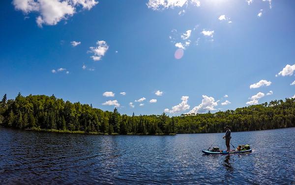 Heading across East Bearskin Lake