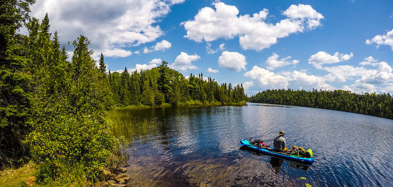 Last quick fishing session before our first portage