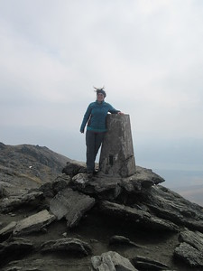 Windy on the summit of Ben Lawers!