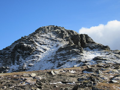 Approaching the summit of Ben Lomond.