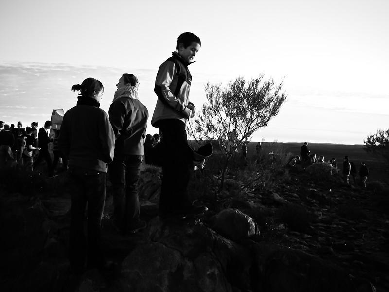 Sunset at the outdoor sculpture park, Broken Hill