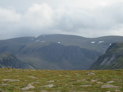Snow patches on Ben Macdui