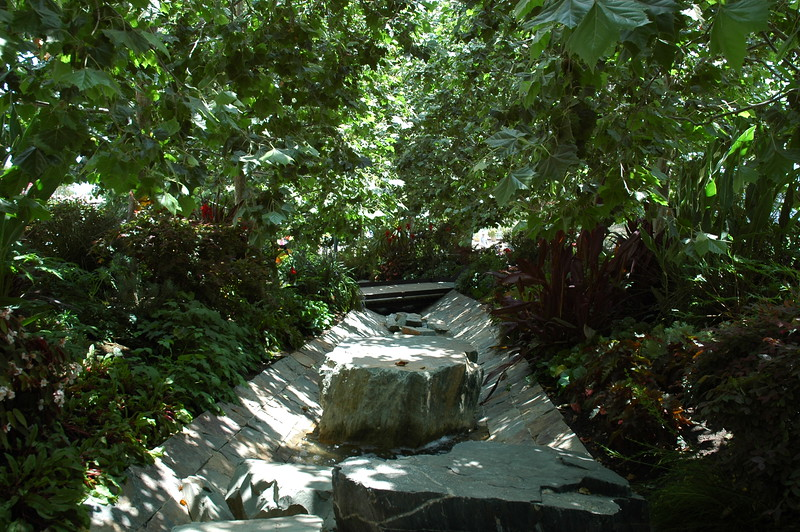 The stream that flows through the garden