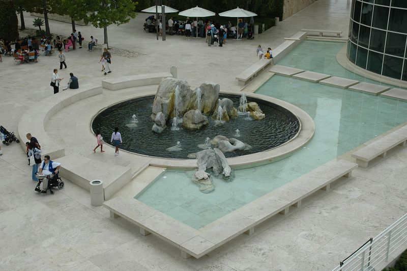 One of many fountains.