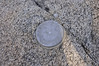 Survey marker found at the top