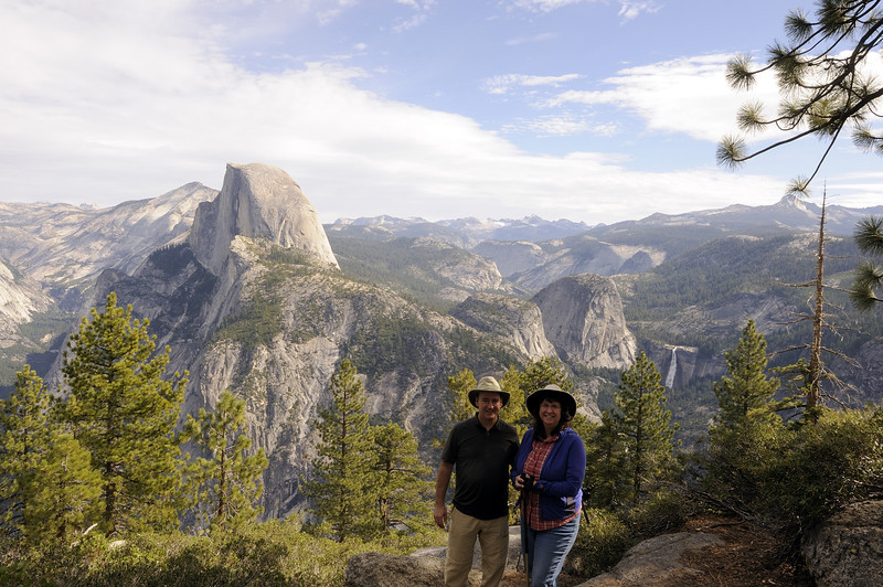 Peter and Teresa on Glacier Point in October, 2011