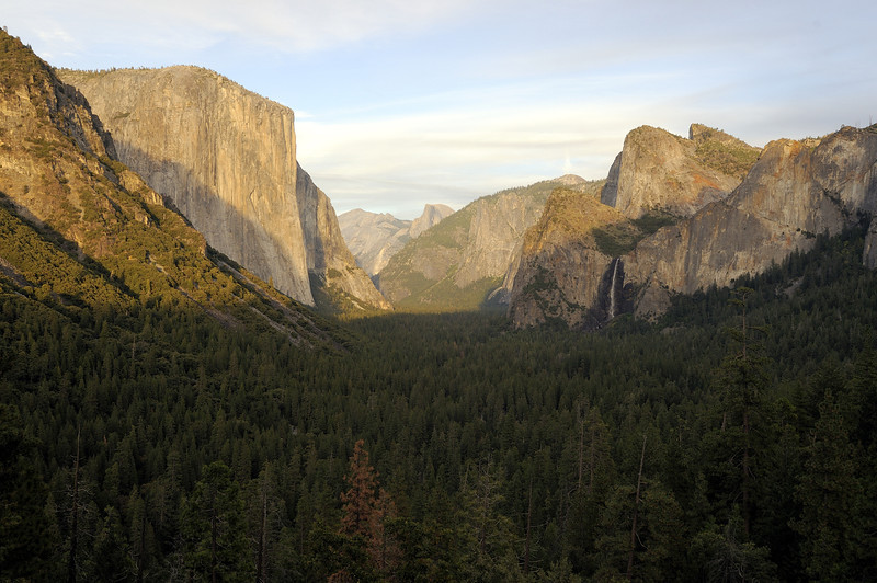 Yosemite Valley late in the day from Tunnel View