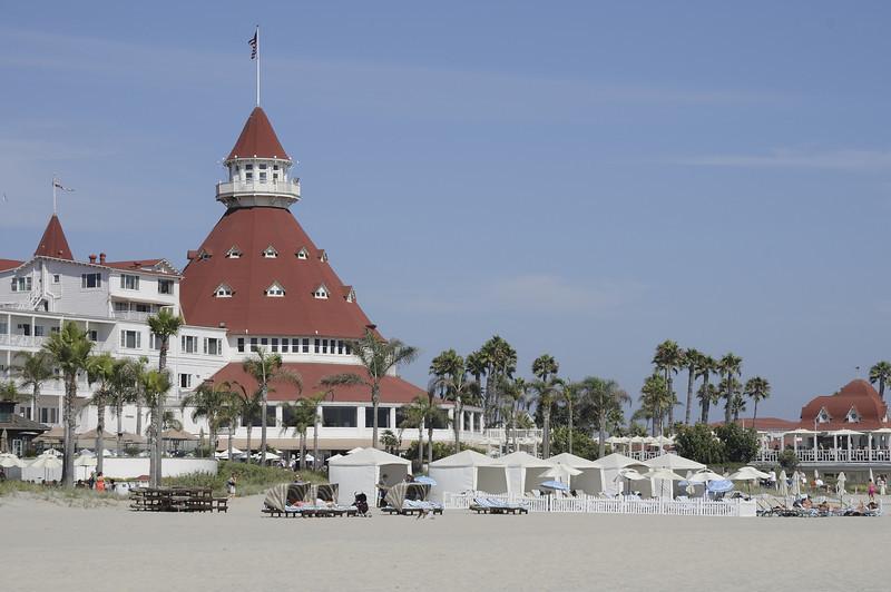 Hotel Del Coronado beach cabanas