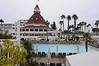 Hotel Del Coronado swimming pool early in the morning